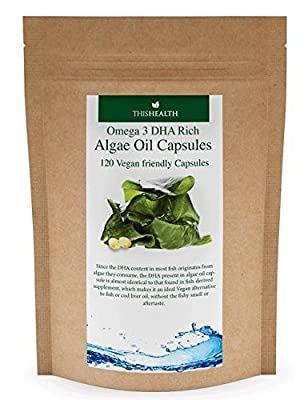 Omega 3 DHA Rich Algae Capsules x 120 from This Health