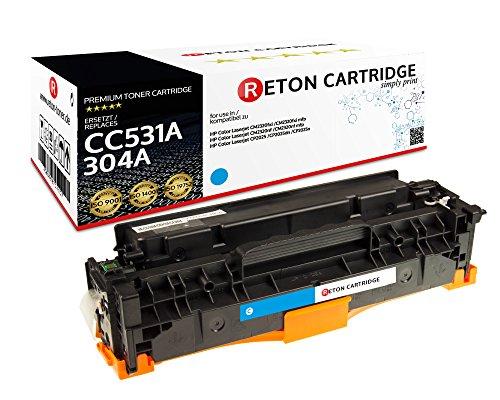 Originele Reton toner, compatibel met (ISO-norm 19798) vervangt HP 304A / CC530A CC531A CC532A CC533A voor HP Color Laserjet CM2320fxi MFP HP Color Laserjet CM2320nf MFP CP2025dn CP2025n CP2025 cyaan