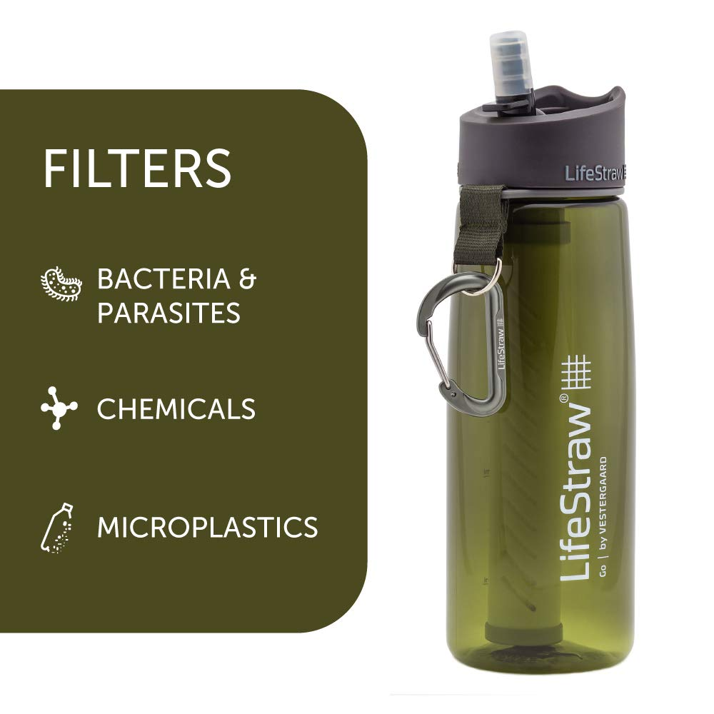 LifeStraw Go 2-Stage - Botella con filtro de agua de 2 etapas ...