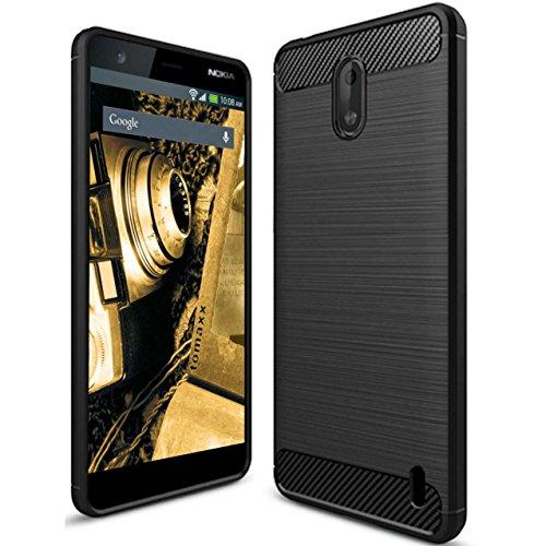 Custodia in carbonio per smartphone Nokia 8 Sirocco, colore: nero