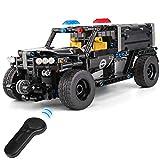 OUUED Bloques de construcción de vehículos de Control Remoto de Bricolaje Sport Cars 2,4 GHz Radio RC Grandes Juguetes Vehículos Eléctricos de Coches de Juguete Políticas Jigsaw Camiones Modelo Campo