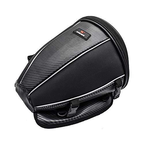 WOSAWE - Bolsa impermeable de viaje para moto o trasero, multifunción, piel sintética, mochila de almacenamiento (15 litros)