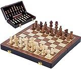 Engelhart - Hermoso Juego de ajedrez de Madera de Lujo 30 cm x 30 cm x 5,5 cm - 150203