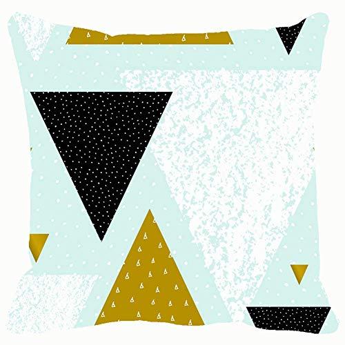 Butlerame Fundas de cojín 18x18, Patrón de repetición sin Fisuras geométrico Abstracto Patrón Abstracto Negro Resumen PWC-350