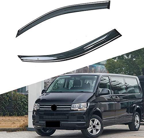, para la decoración del automóvil, para Volkswagen VW T6 Transporter Caravelle 2015-2019 Ventana de Coche Viseras de Sombra de Lluvia Escudo Refugio Protector Cubierta Etiqueta de Marco