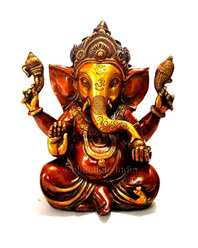 Modfash Kunsthandwerk Ganesha Idol Statue Skulptur Ganpati Murti - Diwali Puja Geschenk Dekoration