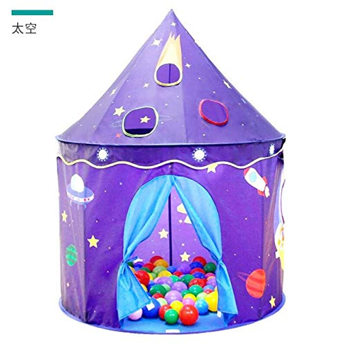 Humanity Raum-Spiel-Zelt, Castle House Palace Zelt Kinderspielhaus, Schloss Indoor- und Outdoor tragbare Kinder Spielzeug-Zelt, Faltbarer Kinderspielzelt for Jungen und Mädchen (Size : 122x130cm)