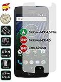 Movilrey Protector para Motorola Moto G5 Plus 5.2 Cristal Templado de Pantalla Vidrio 9H para movil