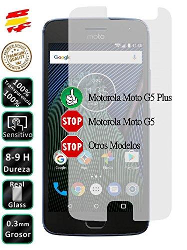 Movilrey Protector para Motorola Moto G5 Plus 5.2 Cristal Templado de Pantalla...