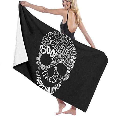 Toallas de baño de frases de Halloween de secado rápido suave toalla de ducha de playa 130 x 80 cm