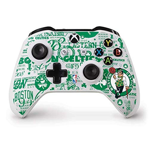 Skinit Decal Gaming Skin Compatible with Xbox One S Controller - Officially Licensed NBA Boston Celtics Historic Blast Design