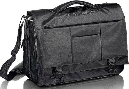 Arbeitstasche für Laptops Invicta Office – Document Two schwarz – gepolsterte Laptoptasche