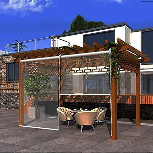 XIAOLIN Outdoor-Garten-Terrasse 100% Klare Rollos, wasserdichte Türfenster-Partition Vinylvorhang Mit Montage (Color : Clear, Size : W60xL100cm)