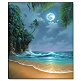 AJleil Puzzle 1000 Piezas Moon Beach Art Crafts by The Sea Puzzle 1000 Piezas clementoni Educativo Divertido Juego Familiar para niños adultos50x75cm(20x30inch)