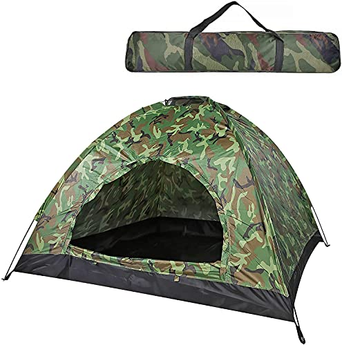 2 Person Tents for Camping, Camping Tent with Carry Bag,Lightweight Waterproof Windproof Dome Tents for Kids & Adults, Great for Camping, Backpacking, and Hiking Outdoors (Camouflage)