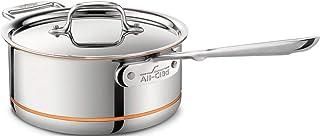 All-Clad 6203SS Euro Copper-Core de Acero con asa y Tapa, Olla 2,8 L, 20,3 cm