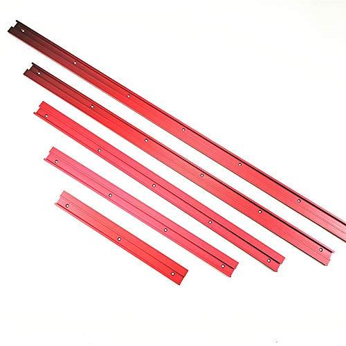 WHK 45 tipo de carril en T – Guía universal de inglete de ranura en T, guía de inglete para sierra circular de mesa (500 mm)
