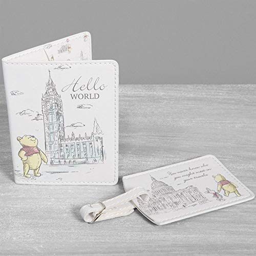 Disney Christopher Robin Winnie The Pooh Passport Holder and Luggage Tag Set DI497