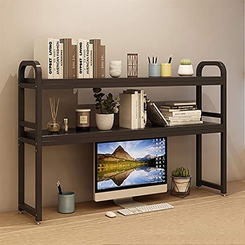 ZMSJ-YJ Estantería de escritorio pequeño escritorio con soporte de escritorio, estante de almacenamiento de escritorio simple multicapa estante de almacenamiento de escritorio organizadores