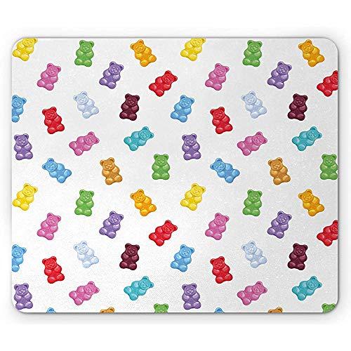 Dessert Mouse Pad, levendige gekleurde Gummy Bears snoepjes Heerlijke Jelly Sugary Snack Chewy Smaak, muismat