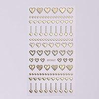 1ピース3d美容ネイルステッカーゴールドメタリックアート粘着デカールのヒント光沢のある幾何学的な花のジュエリーデザインマニキュアSADP2001-2012 DP2007