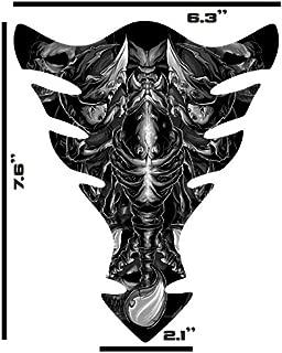 Gray Scorpion Skull Sportbike Motorcycle 3d Gel Gas TanK pad Gel protector Decal