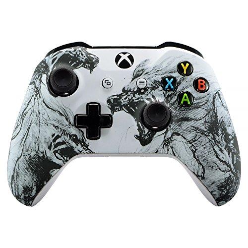 eXtremeRate Gehäuse für Xbox One X/S Controller,Hülle Case Zubehör Ersatzteile Faceplate für Xbox One S/Xbox One X Controller(Wolf)