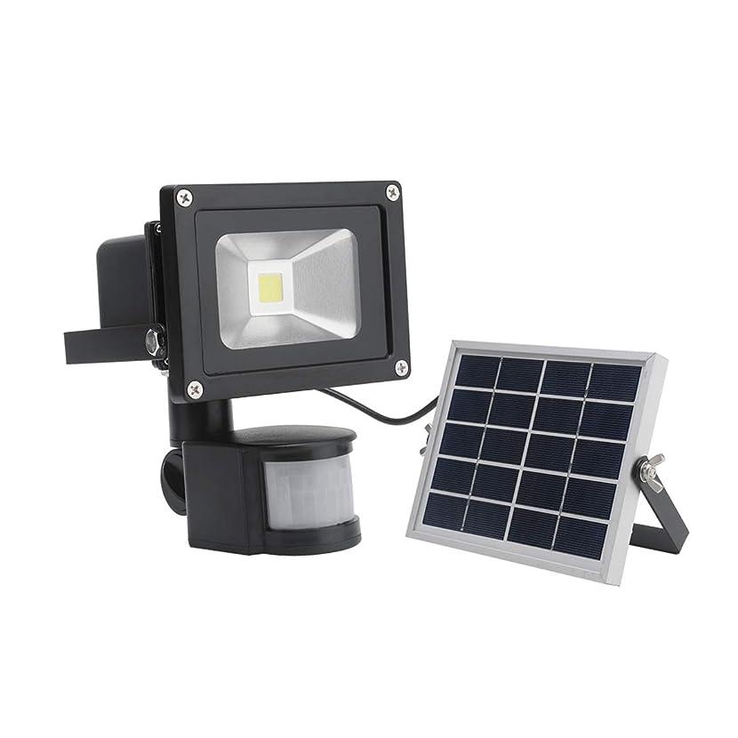 聴く行動に応じて10Wソーラーパワーは、投光照明芝ランプセンサーPIRモーションセンサーワイヤレスIP65ガーデンセキュリティスポットライト