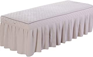 Massage Table Skirt Sheet, No-pilling Anti-shrink Reusable Spa table sheet By O'Fivest (grey)