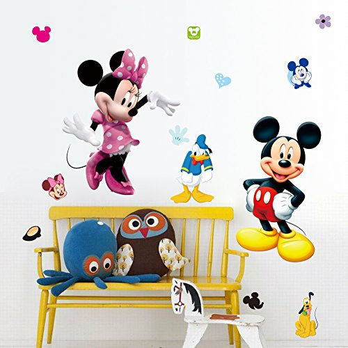Kibi Pegatinas Infantiles Pared Minnie Pegatinas Decorativas Pared mic
