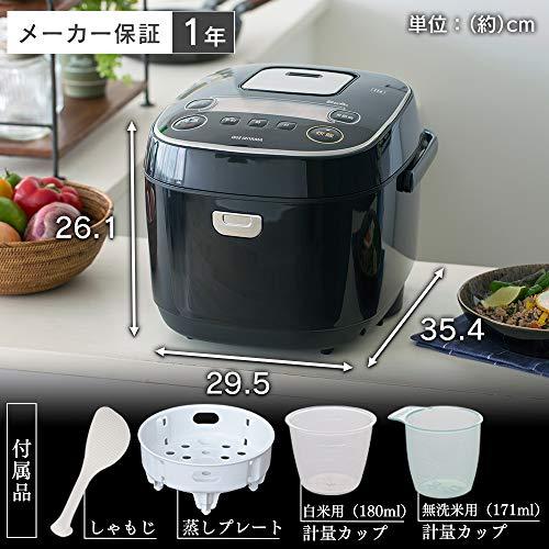 『アイリスオーヤマ IH炊飯器 一升 10合 IH式 31銘柄炊き分け機能 極厚火釜 玄米 IH式 ブラック RC-IE10-B』の7枚目の画像