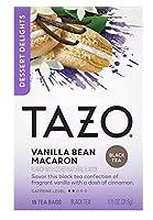 Tazo Vanilla Bean Macaron Dessert Delights Tea タゾ バニラビーンマカロンデザートティーバッグ15杯分 [並行輸入品]