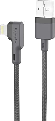Portronics Konnect L 1 2M POR 1080 Fast Charging 3A 8 Pin USB Cable with Charge Sync Function Grey