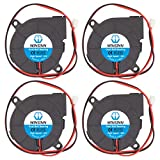 WINSINN 50mm Blower Fan 24V 5015 Dual Ball Bearing 50x15mm Turbine Turbo Brushless - High Speed (Pack of 4Pcs)