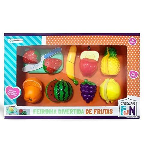 Creative Fun Feirinha Divertida de 8 Frutas Com Velcro Indicado para +3 Anos Multikids - BR1112