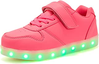 Lovelysi Unisex Zapatos Zapatillas de LED 7 Colors USB Carga Luz Luminosas Flash Deporte para Deportivas para Navidad Fies...