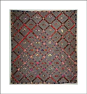 American Culture - 16x18 Art Print by Museum Prints - Quilt, Fruit Baskets Pattern
