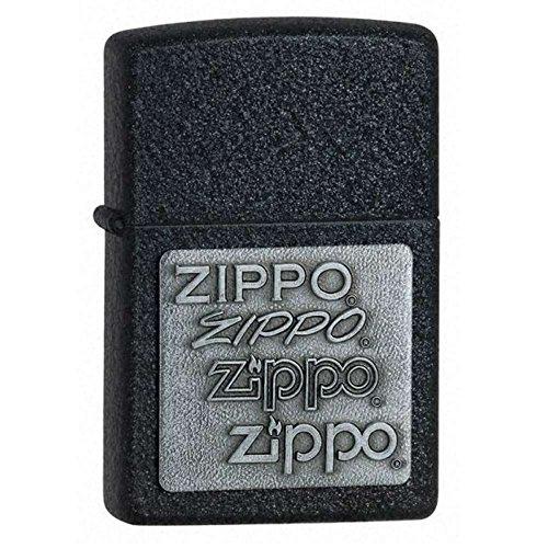 Black Crackle, Zippo Pewter Emblem