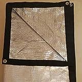 THDD Lona Protector Solar Sombra Red Lona 99% Aislamiento Papel de Aluminio Reflectante Patio al Aire Libre Balcón Techo Alféizar Alfombra, 120 g/m² Feliz Compra (Size : 2x6M)