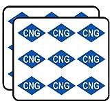 Blue Diamond Shaped CNG Logo (Compressed Natural Gas bio Fuel) Sticker for Scrapbooking, Calendars, Arts, Album, Bullet Journals 2' 18 Pack