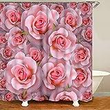 XCBN Elegante & Fantastische weiße Blumenstrauß 3D-Stil Duschvorhang Bad Vorhang Blumen Wohnkultur A5 90x180cm