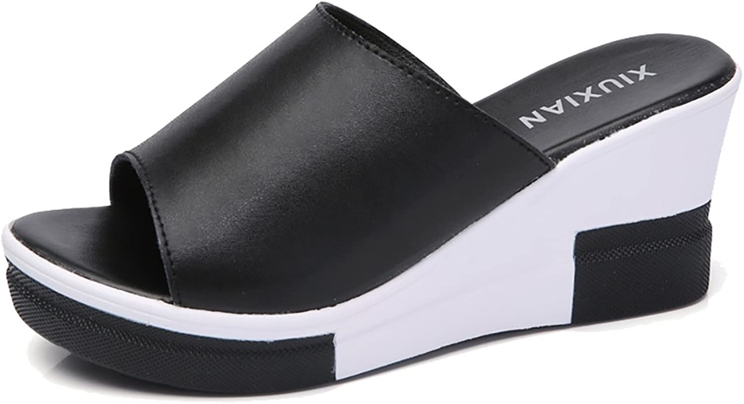 YVWTUC Women's Beach shoes Leather Comfort Non-Slip Slippers
