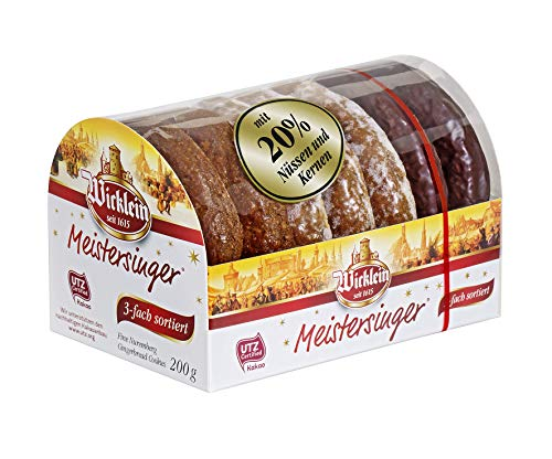"""Wicklein Feine Nürnberger \""""Meistersinger\"""" Oblaten-Lebkuchen, 3-fach sortiert, 7er Pack (7 x 200 g)"""