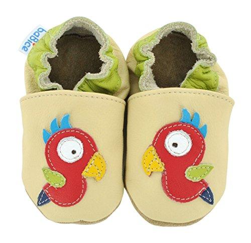 Krabbelschuhe Papagei von baBice, Schuhgröße:24/25 (24-30 Monate);Uni Schuhe:sand