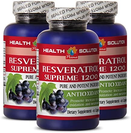 Resveratrol 1200 RESVERATROL Supreme 1200MG Help with Weight Loss 3 Bottles product image