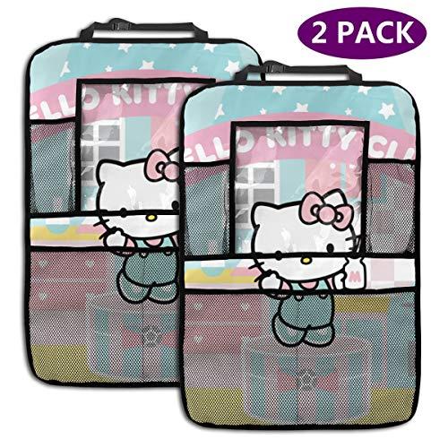 TBLHM Hello Kitty Club Lot de 2 organiseurs pour siège arrière de Voiture avec Support pour Tablette