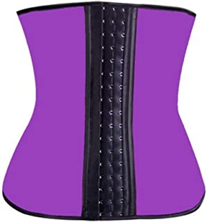 YSY-CY 100% Latex Waist Trainer Slimming Belt Corset Women Tummy Control Waist Cincher Stomach Slimming Underwear Girdle Suitable for yoga/postpartum repair (Color : PURPLE, Size : 5XL)