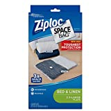 Ziploc Flat Space Bags, For Organization and Storage, Reusable, Waterproof Bag,...