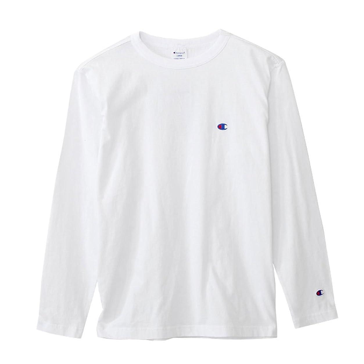 マルコポーロ器用呼びかける(チャンピオン) Champion Tシャツ ワンポイント ロングスリーブTシャツ 2019SS ベーシック アメカジ C3-P401 White ホワイト