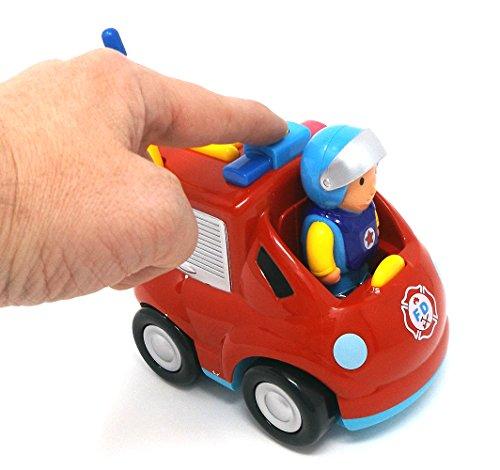 RC Auto kaufen Feuerwehr Bild 2: Brigamo Feuerwehr Ferngesteuertes Auto Feuerwehrauto mit Sirene und Herausnehmbare Feuerwehrmann Figur*